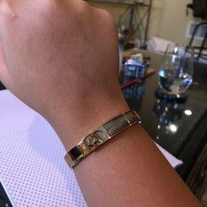 MICHAEL KORS- Inlayed acetate hinge bracelet
